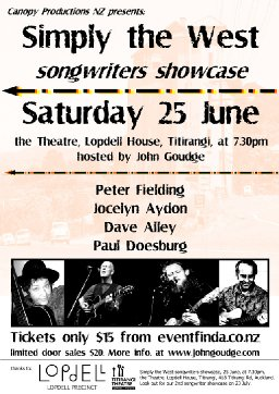 Simply the West songwriters showcase
